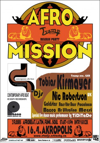 AFROMISSION (Tramp records Release Party) FLYER